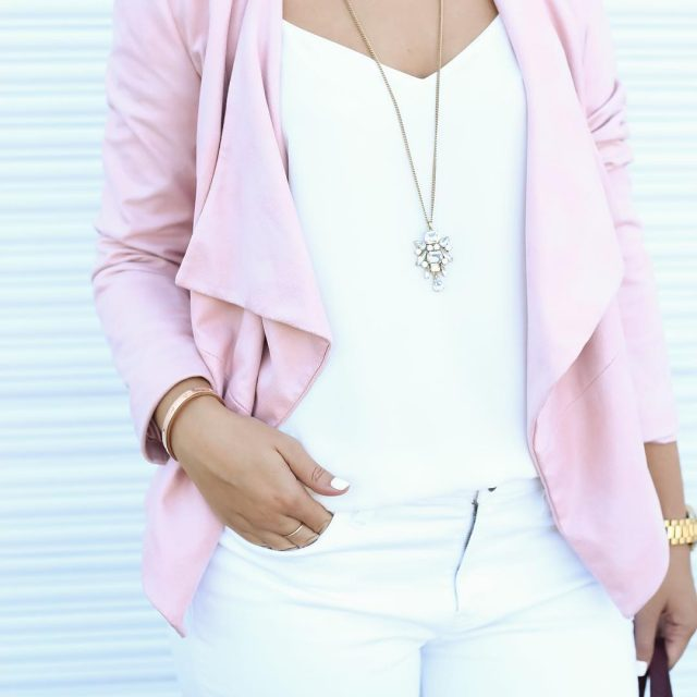 A blush faux suede jacket for fall How stunning ishellip