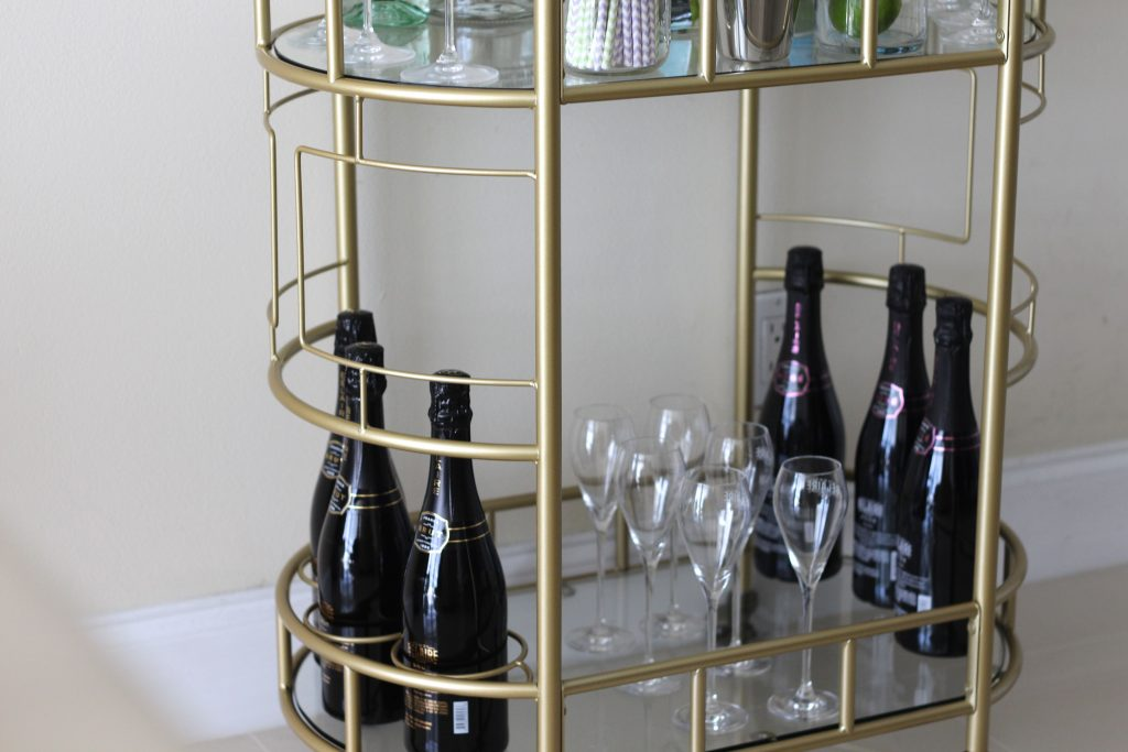 Gold bar cart 5