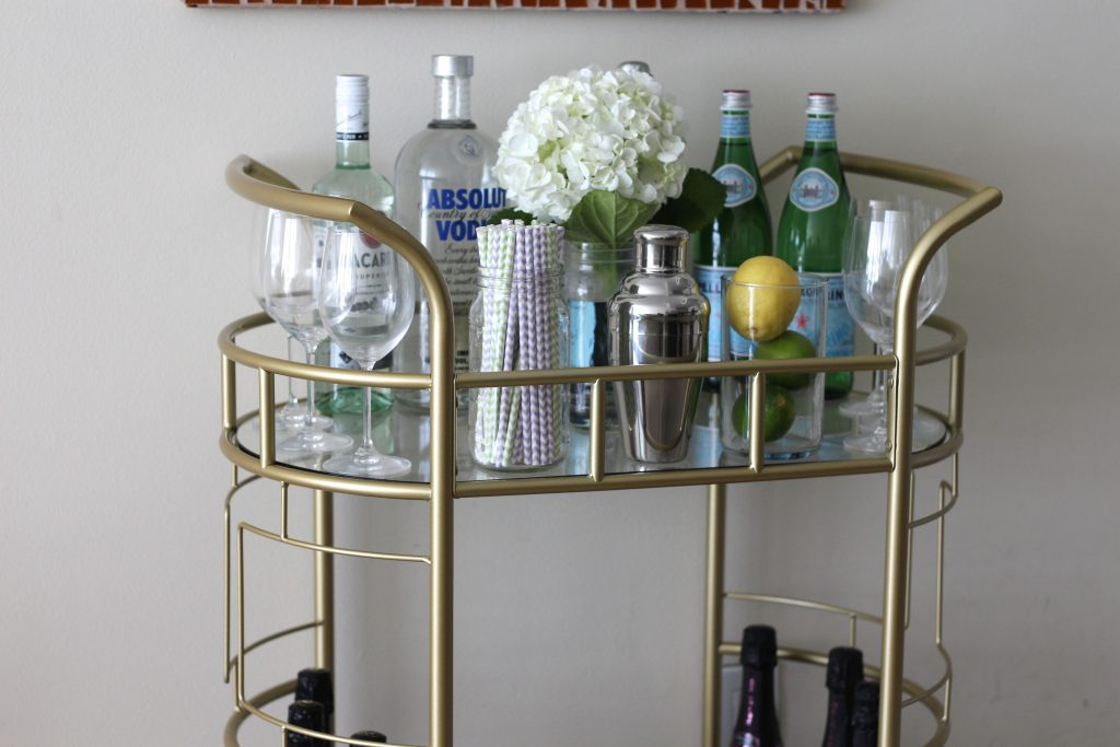 Gold bar cart 6
