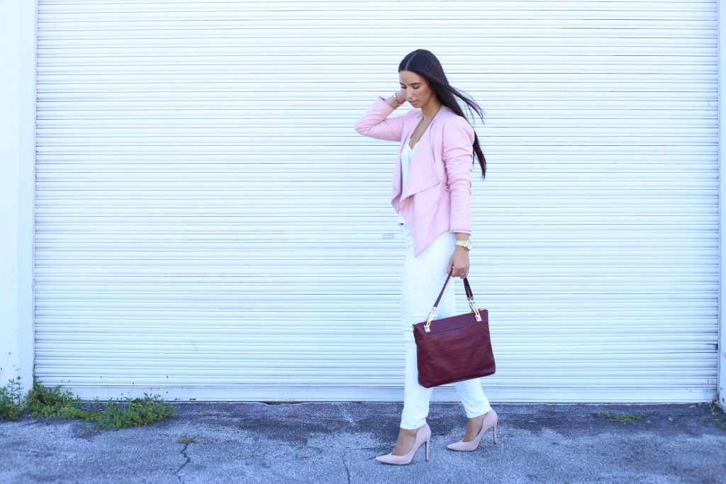 Blush fall suede jacket- Henri Bendel Croc Messanger bag - BisousBrittany.com 13