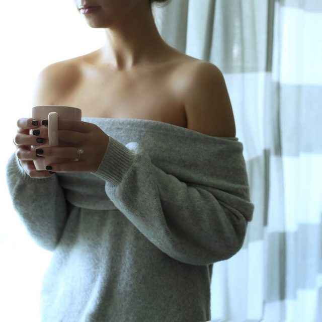 Sunday mornings are for cozy sweaters and cups of coffeehellip