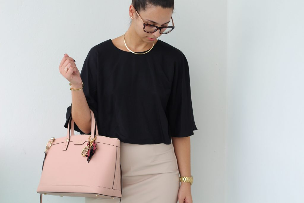 A Chic Office Look - Tobi Cropped Top - Henri Bendel - Sam Edelman Pumps