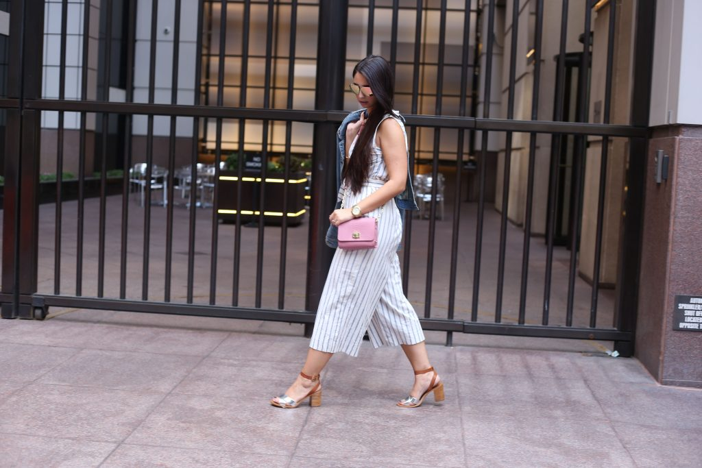 Madewell Striped Culotte Jumpsuit- NYFW - Gigi New York - BisousBrittany