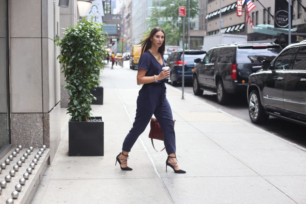 NYFW City Look- Madewell Jumpsuit- Sam Edelman - Henri Bendel - BisousBrittany - Bauble Bar