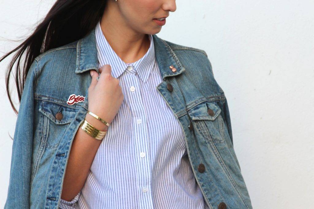 Stripes & Denim - Bauble Bar - Evy's Tree's - Levi's - BisousBrittany - Bisous Brittany