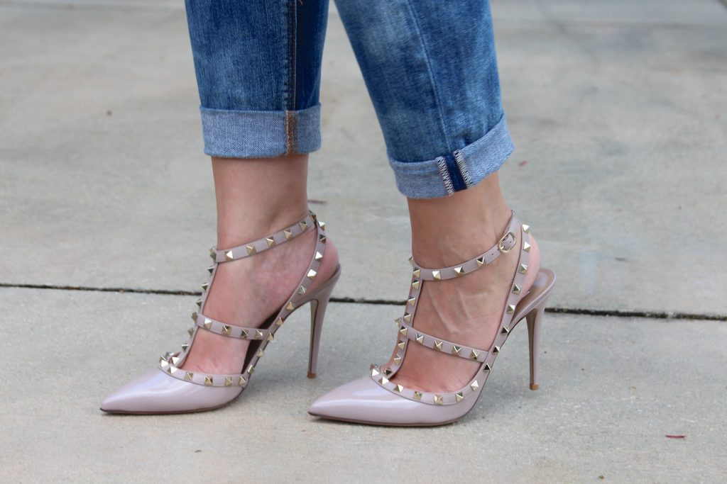 Valentino Rockstuds - Poudre Patent - OOTD - Street Style - Bisous Brittany