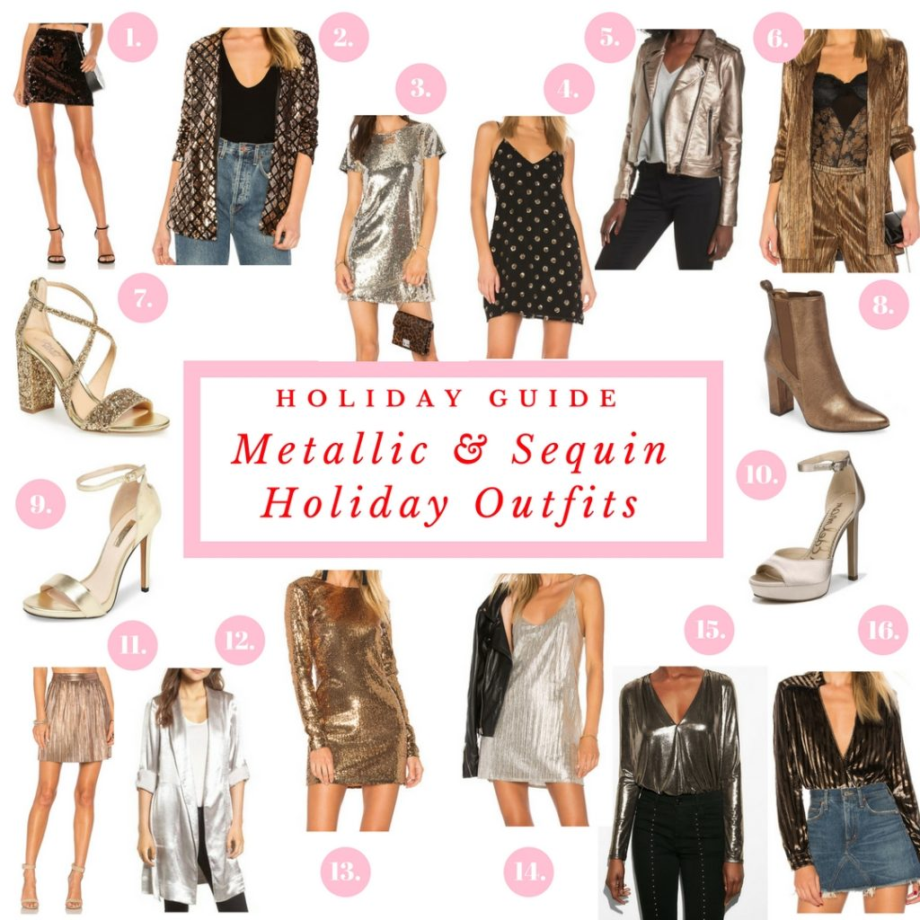 Metallic & Sequin Holiday Outfits | Holiday Guide - Bisous Brittany - BisousBrittany