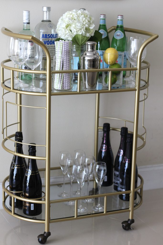 gold bar cart how i decorate my gold bar cart bisous 31166
